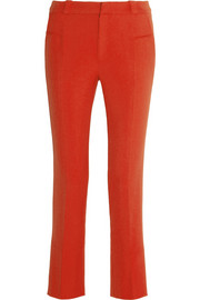 Roland Mouret Lacerta cropped stretch-crepe straight-leg pants