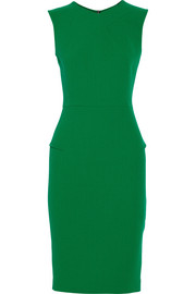 Roland Mouret Sesia double-faced wool-crepe dress