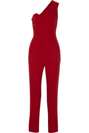 Nortoni one-shoulder stretch-crepe jumpsuit