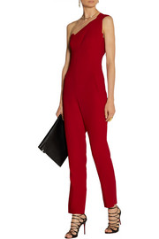 Roland Mouret Nortoni one-shoulder stretch-crepe jumpsuit