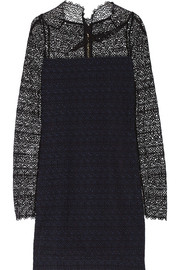 Samiel cotton-lace and crepe mini dress