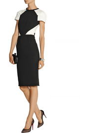 Roland Mouret Timarcha paneled crepe and cloqué dress
