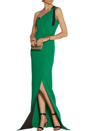 Roland Mouret Kowhai double-faced wool-crepe gown