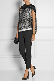 Roland Mouret Eugene lace and stretch-jersey top