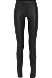 Mortimer stretch-leather pants