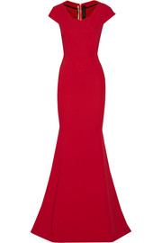 Sitobion stretch-crepe gown