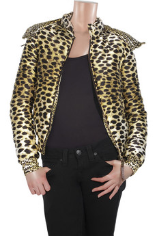 Just Cavalli Leopard-print silk puffa coat