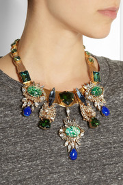 Bijoux HeartGold-plated multi-stone necklace