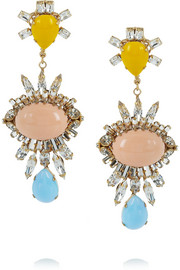 Bijoux Heart Gold-plated Swarovski crystal, glass and resin earrings