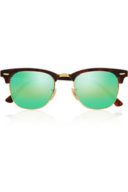 Ray-Ban Clubmaster acetate mirrored sunglasses