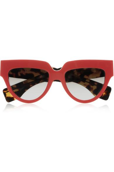 Prada Cat eye acetate sunglasses NET-A-PORTER.COM
