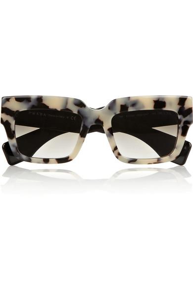 prada square frame acetate sunglasses net a porter com. Black Bedroom Furniture Sets. Home Design Ideas