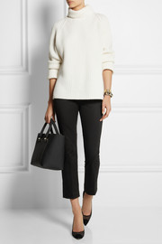 Victoria Beckham Denim Chino cropped stretch-cotton straight-leg pants