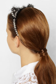 Eugenia Kim Josie faux pearl and tinsel cat ear headband