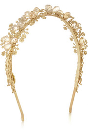 Eugenia Kim Sarah crystal-embellished gold-tone headband