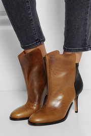 Maison Martin Margiela Two-tone leather ankle boots