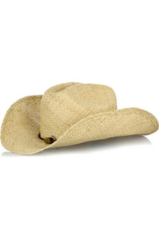 Melissa OdabashRaffia cowboy hat