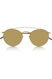 Maison Martin Margiela + MYKITA Gold Flash round-frame stainless steel mirrored sunglasses