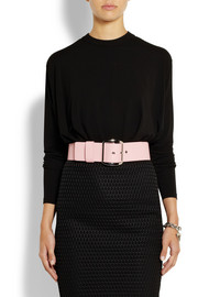 Givenchy Wide waist belt in light-pink leather
