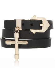 Givenchy Double wrap bracelet in black leather