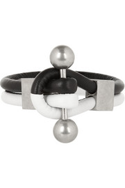 Givenchy Shark Tooth Piercing bracelet in black and white leather