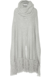 Thakoon Addition Ribbed cashmere poncho