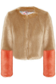 Shrimps Bailey cropped faux fur jacket