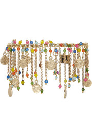 Appeso gold-dipped multi-colour anklet