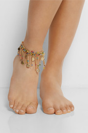 Rosantica Appeso gold-dipped multi-colour anklet