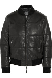 Lot78 Padded nappa leather bomber jacket