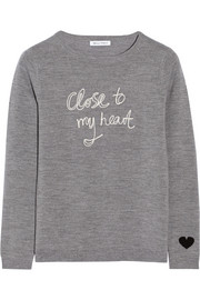 Bella Freud Close To My Heart merino wool sweater