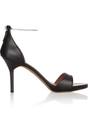 Luisa sandals in black leather