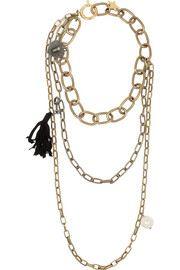 Susan gold-tone, Swarovski crystal and faux pearl necklace