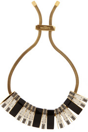 Lanvin Victoria gold-tone, Swarovski crystal and resin necklace