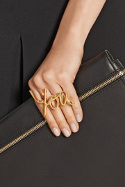 Lanvin Iconic You gold-tone two-finger ring