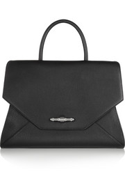 Obsedia bag in black textured-leather