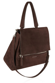 Givenchy Pandora Pure medium shoulder bag in chocolate nubuck