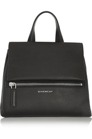 Small Pandora Pure bag in black textured-leather