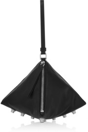 Givenchy Wristlet triangle clutch in black leather