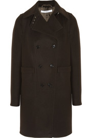 Givenchy Double-breasted coat in cocoa wool-blend felt