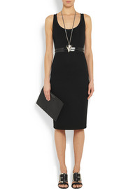 Givenchy Black stretch-crepe and scuba-jersey dress with zipped waist