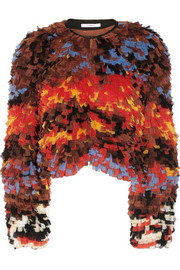 Givenchy Mosaic-effect multicolored tulle jacket