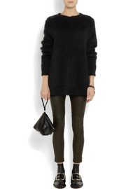 Givenchy Sweater in black mohair-blend with side zips