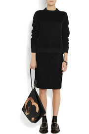 Givenchy Bonded mesh pencil skirt with net overlay