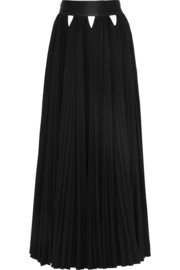 Givenchy Cutout plissé stretch-crepe maxi skirt