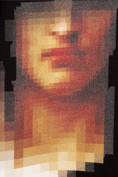 Pixel Madonna Printed Cotton Jersey Sweatshirt