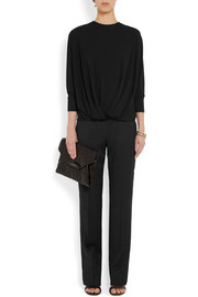 Givenchy Gathered top in black stretch-crepe