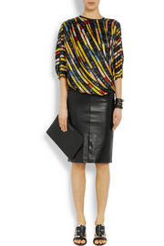 Givenchy Silk-satin top in sequin print