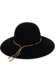 Lanvin Chain-embellished rabbit and hare-felt hat