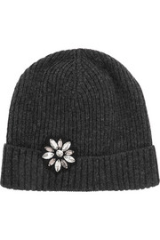 Lanvin Crystal-embellished wool beanie